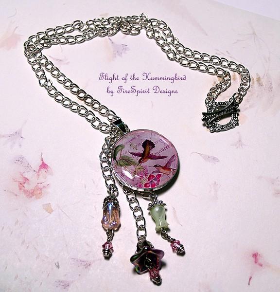 Flight of the Hummingbird-artisan necklace