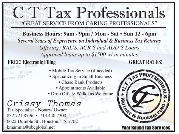 CT Tax Pros. 4x6 Flyer