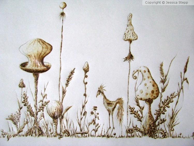 Bird and Mushroom