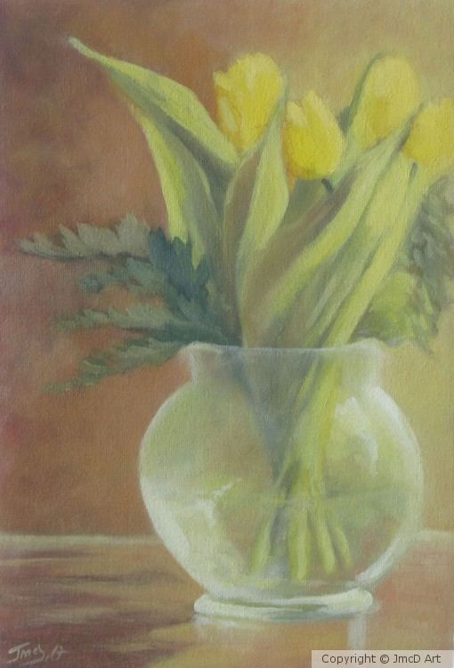 Still life II Yellow Tulips