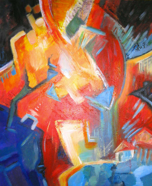 Summer Sojourn - Abstract  by Lorraine G Huber