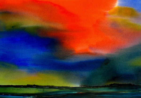 my polder under a colourful sky