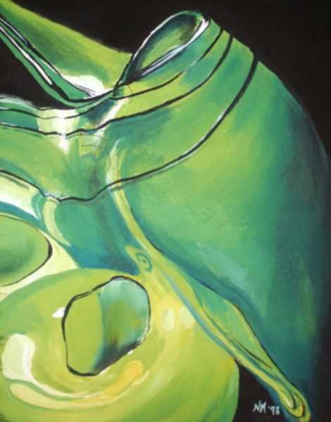 Blown Glass - Green