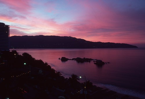 Sunset on Acapulco Bay, Mexico