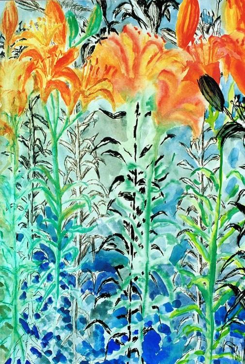 flowers paintings watercolors on paper flower painting by raphael perez