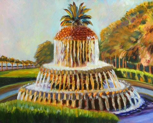 Pineapple Fountain Waterfront Park Charleston SC