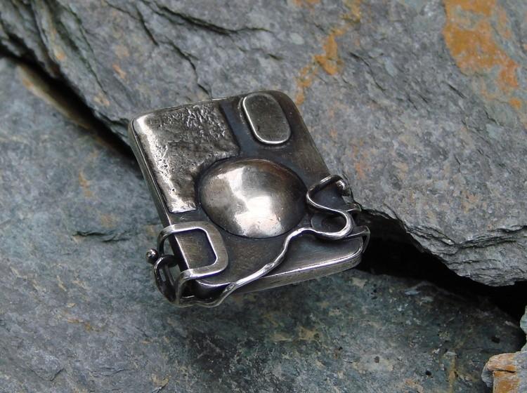 Element -14 Hand  fabricated  ,Sterling silver  , Gomolka Mirek Art,2005 Canada/Japan