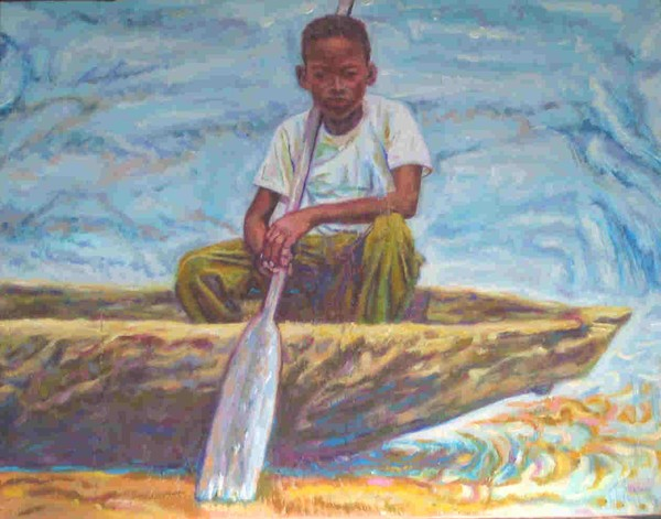 Paddling up the Congo