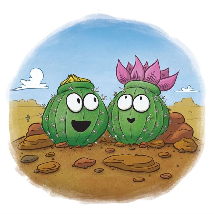 Cute Cactus Desert Bloom