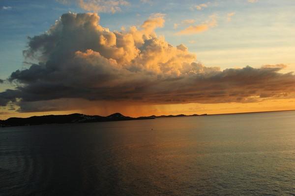 rain cloud over the Caribbean