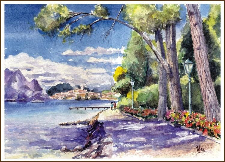 Promenade along Lake Como