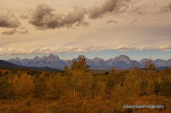 Grand Teton Range in Late Afternoon