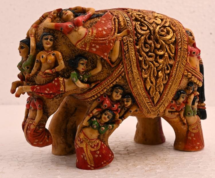 Antique Handmade Sculpture  Elephant