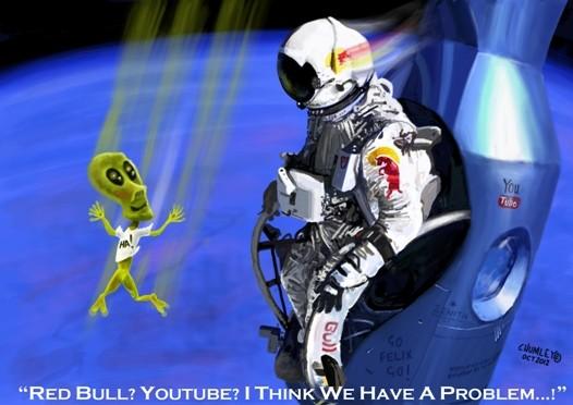 Felix Baumgartner Red Bull Sky Dive Cartoon