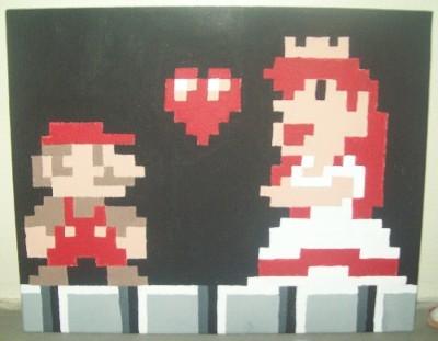 Mario saves the Princess