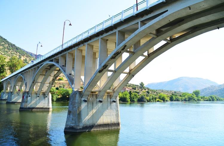 Bridge over the river Douro in Portugal