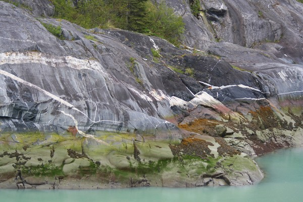 Beautiful Rock Formations along Tracy Arm