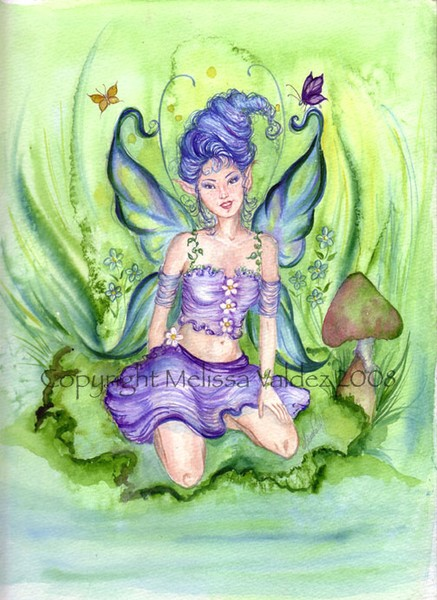 The Blue Cotton Candy Faery