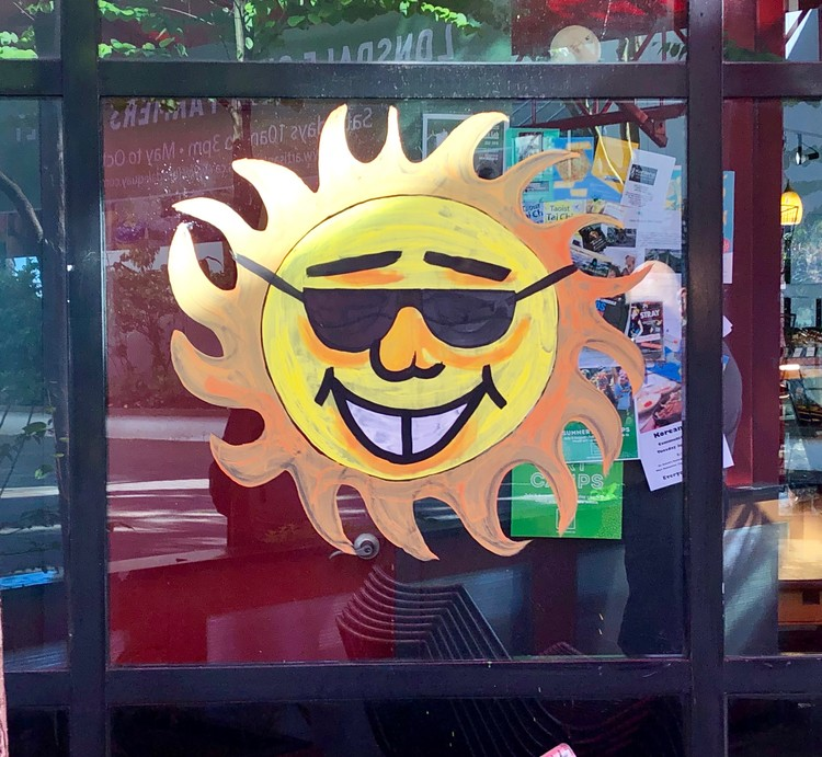 Sun Window Display