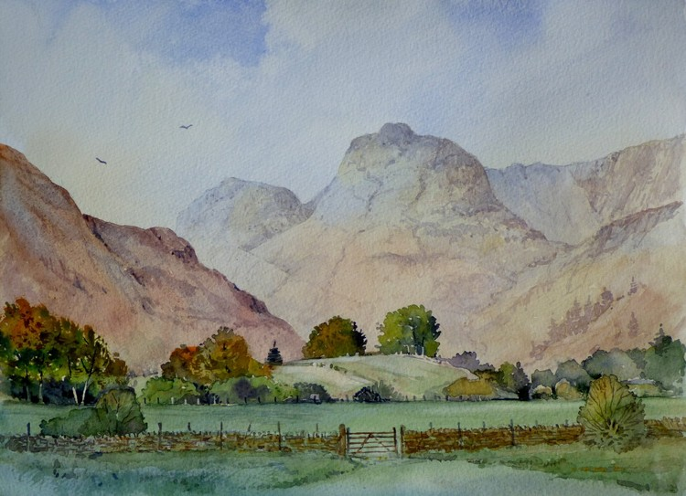 Langdale Pikes from Great Langdale
