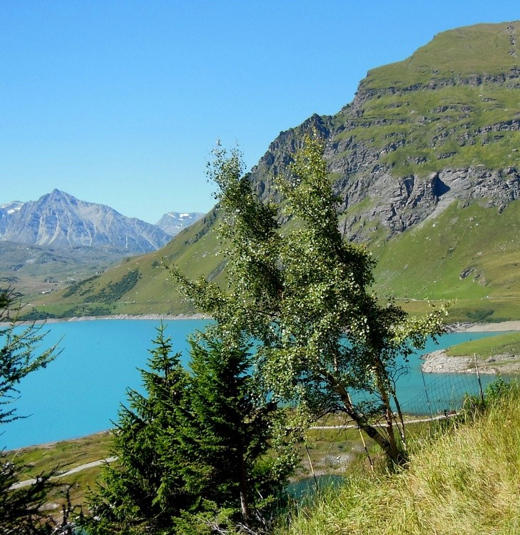 MOUNT-CENIS LAKE IN THE FRENCH ALPS