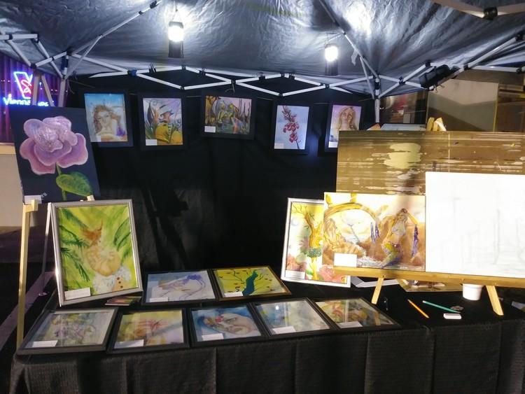 Art Festival Table Setup