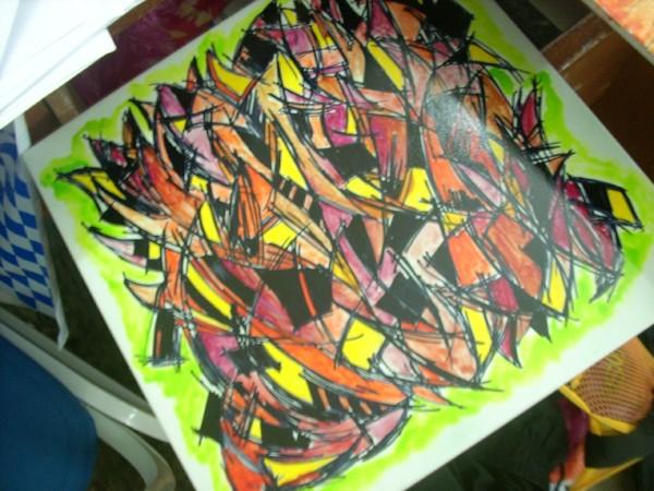 watercolor on mozek