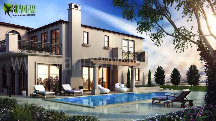 3D Exterior Pool Design View