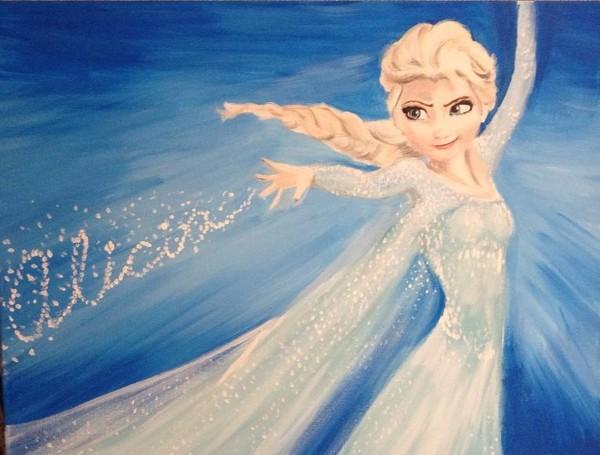Custom Elsa painting
