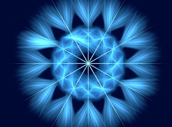 The blue snowflake