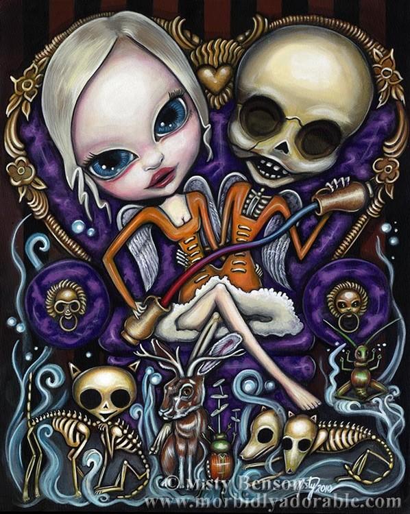 Temperance: Morbidly Adorable Tarot Art
