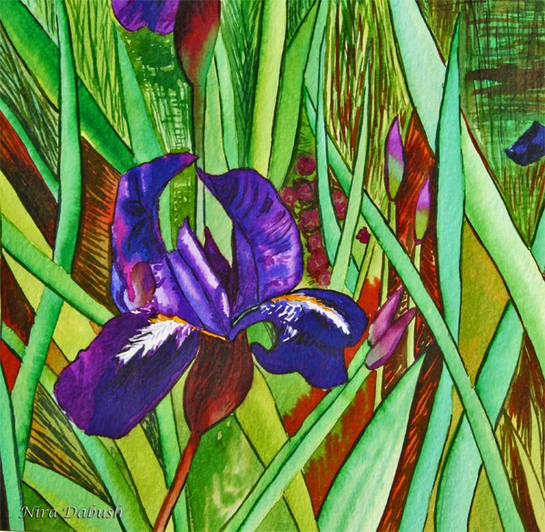 Dipped In Velvet Purple, Surrounds by GREENS