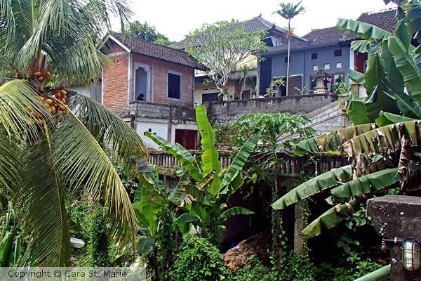 Bali houses over ravine