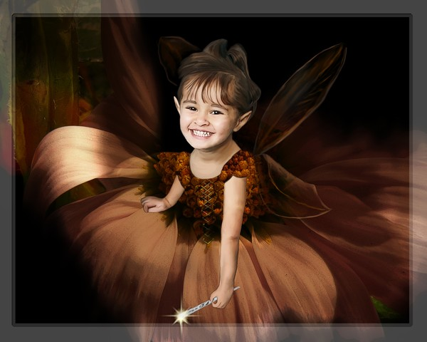 Happy the flower fairy