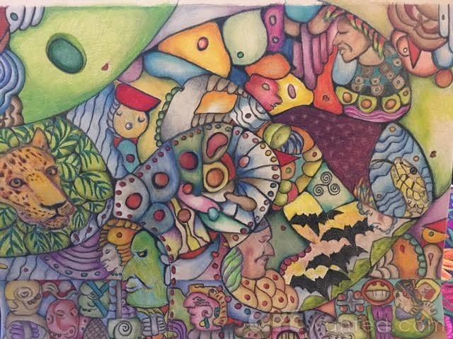 Underworld and Upperworld Mayan Cosmology