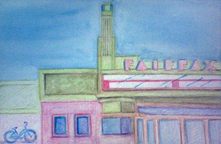 Fairfax Theatre Watercolor