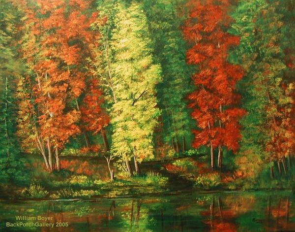 2005-25p Autumn Trees 22x28c