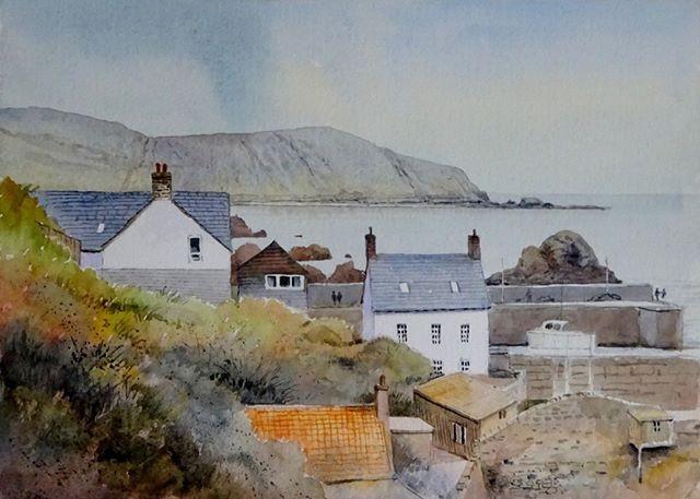 Watercolour of St Abbs Head