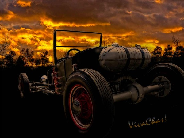 Ford Rat Rod T and a Sundown Destination