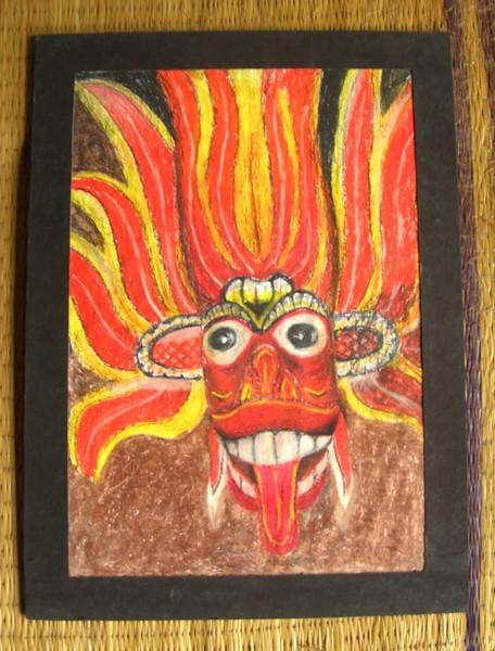 Gini yaka (fire devil mask )
