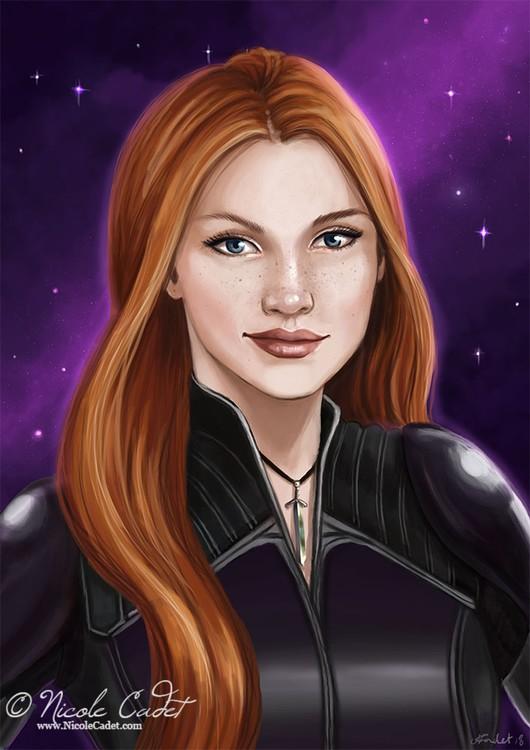 Tish scifi character portrait