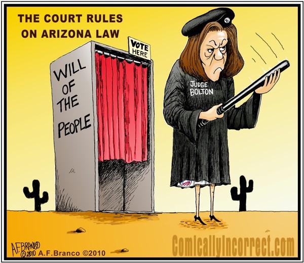 Judge Bolton Arizona Ruling (Cartoon)