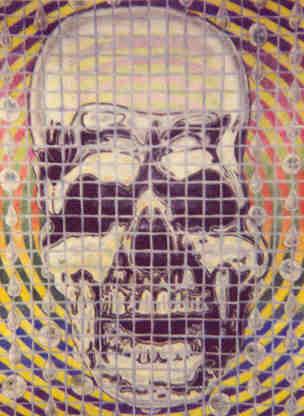 Psychedelic Screen Skull