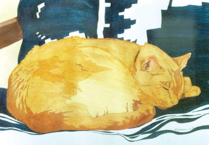 The Orange Cat Sleeps
