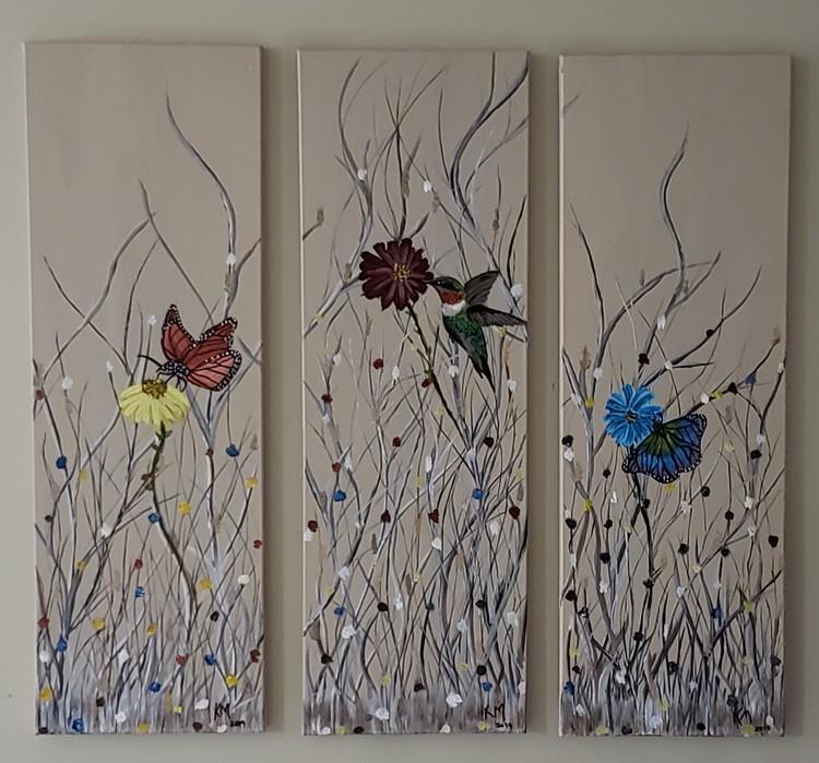 Butterflies and Humingbird