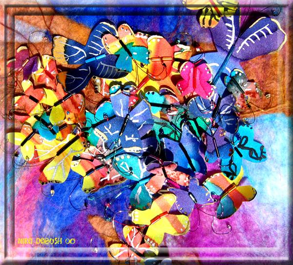 So Many Silk Butterflies...found on FELT