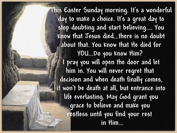 This Easter Sunday Morning...