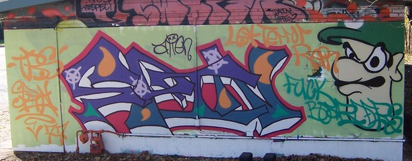 Spin Off Graffiti Tag
