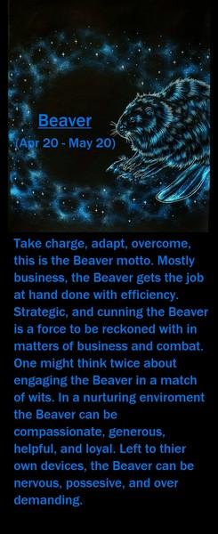 Native American Zodiac Sign, Beaver