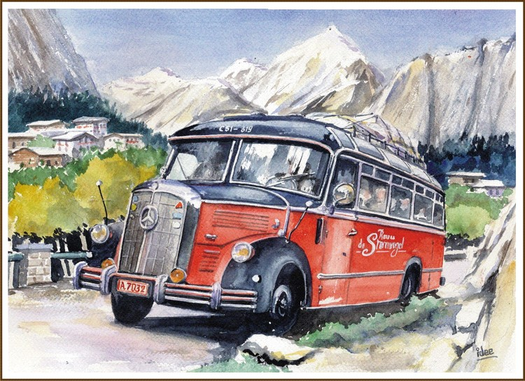 Bus journey in the fifties
